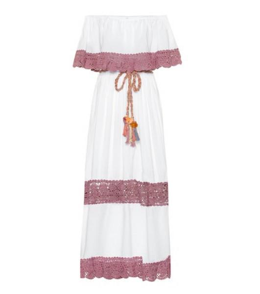 Anna Kosturova Casablanca cotton maxi dress in white