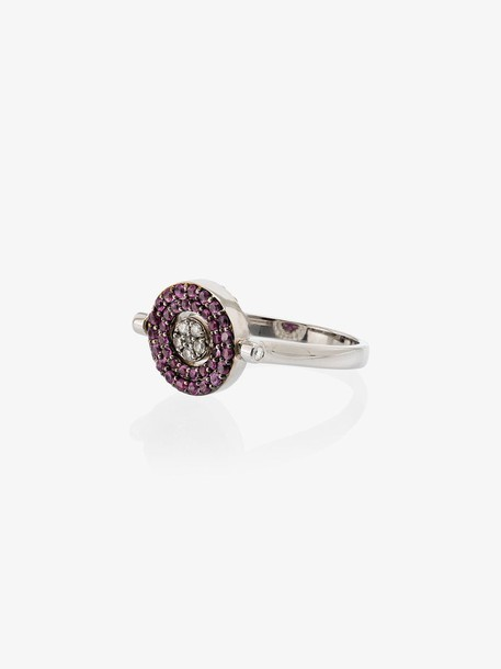 Luis Miguel Howard reverso mini rounded sapphire 18kt white gold ring