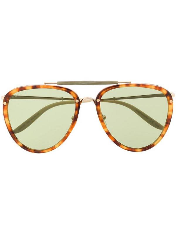 Gucci Eyewear oval frame sunglasses in brown