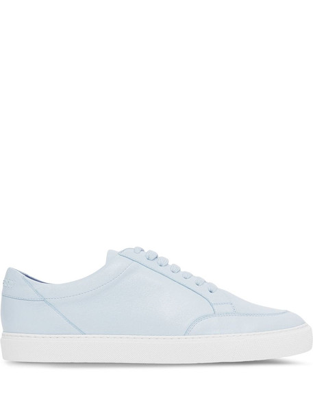 Burberry logo lettering lace-up sneakers - Blue