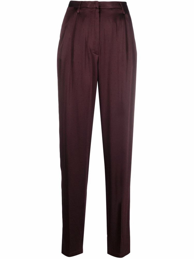 Forte Forte high-waisted tailored trousers in red