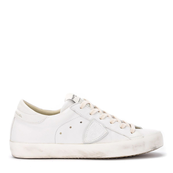 Philippe Model Paris West Soft White Leather Sneaker.