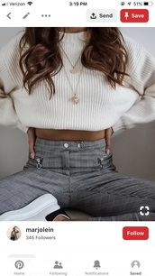 pants,gray plaid,high waisted,silver buttons