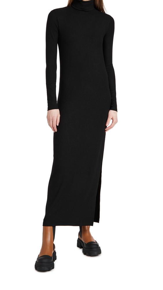 Ninety Percent Rib Maxi Dress in black