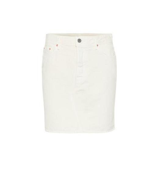Grlfrnd Blaire denim miniskirt in white