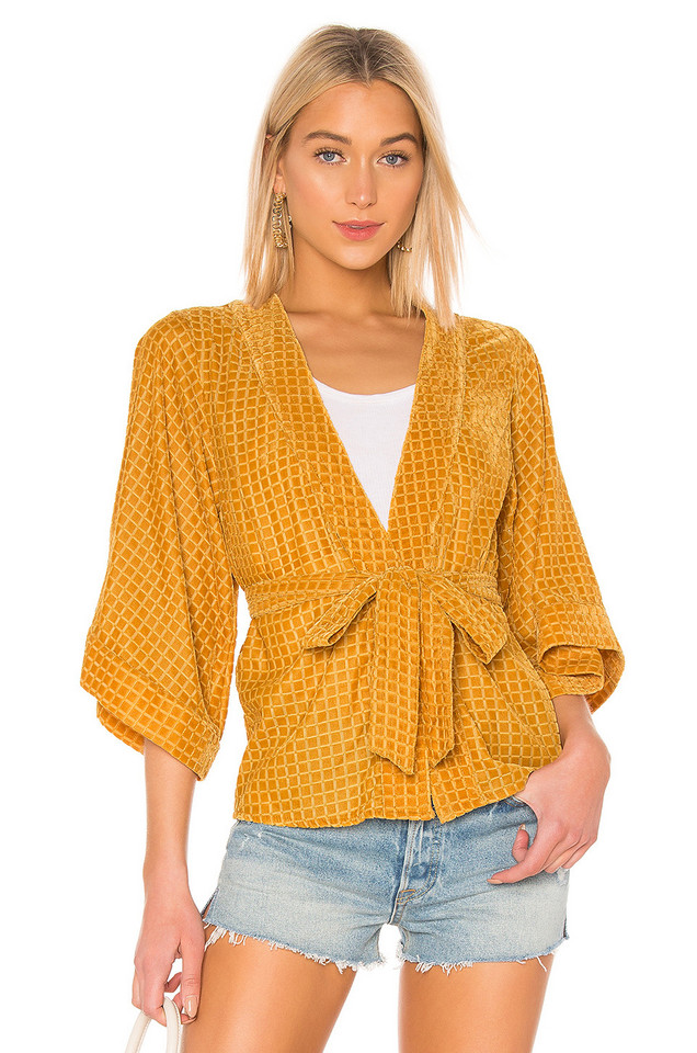 House of Harlow 1960 X REVOLVE Samar Jacket in yellow
