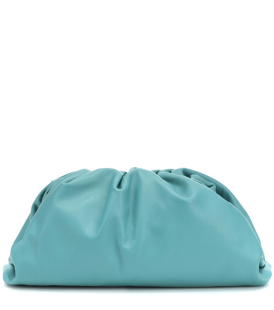 Bottega Veneta The Pouch leather clutch in blue