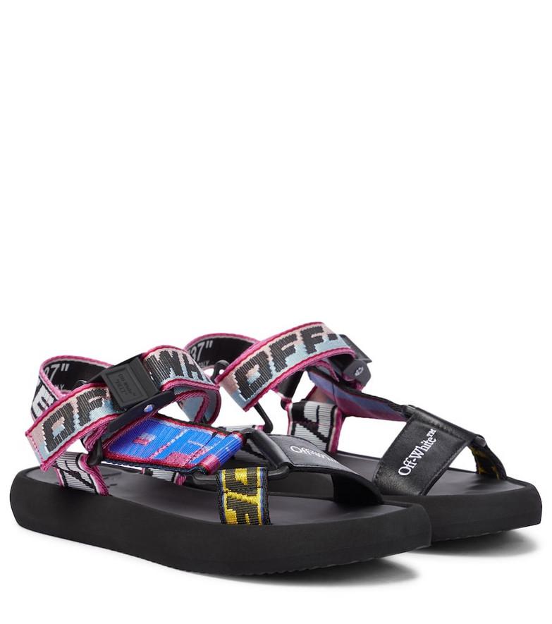 Off-White Trek leather-trimmed sandals