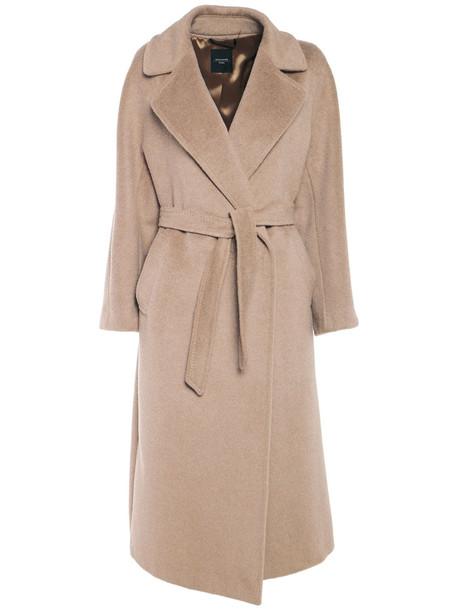 WEEKEND MAX MARA Alpaca Wool Coat W/self-tie Belt