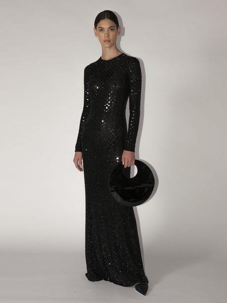 GIORGIO ARMANI Embellished Techno Gown in black