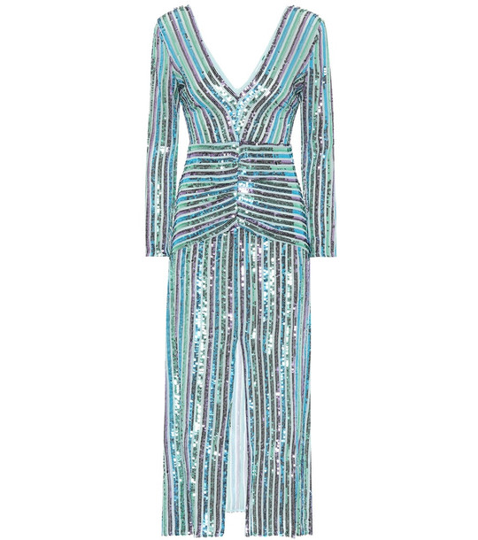 Rixo Emmy sequined maxi dress in blue