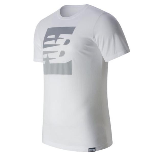 New Balance 63514 Men's Split Sport Style Tee - White (MT63514WT)