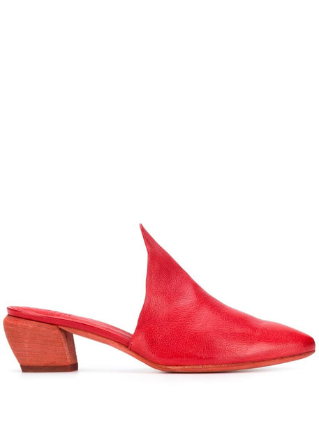 Officine Creative Sally mule pumps in red