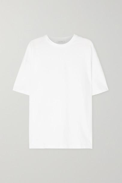 Ninety Percent - + Net Sustain Faye Oversized Organic Cotton-jersey T-shirt - White