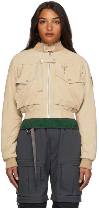 Reese Cooper Suede Juliet Johnstone Jacket in khaki