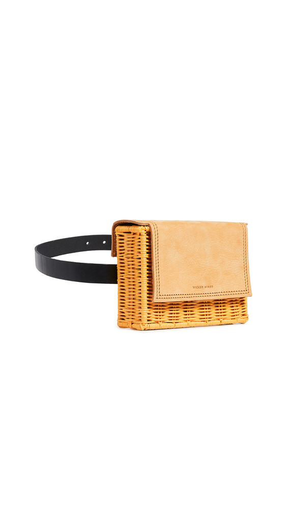 Wicker Wings Tao Clutch in mustard