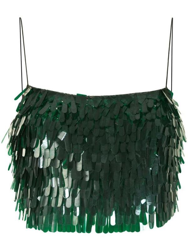 Rachel Gilbert Tayah sequin-embellished top in green