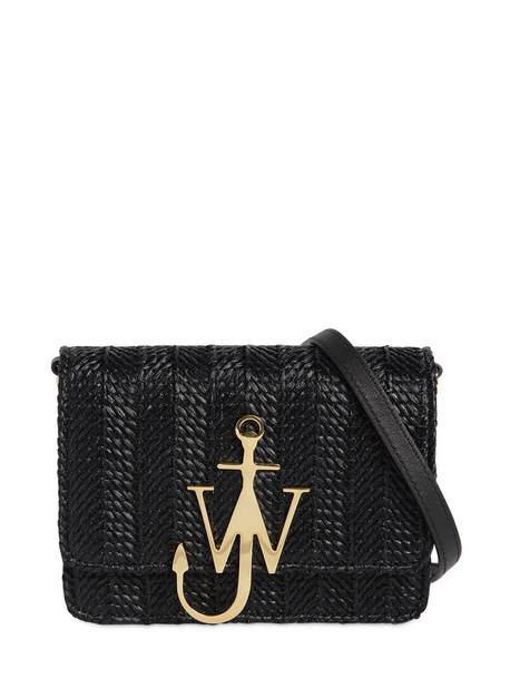 JW ANDERSON Logo Woven Shoulder Bag in black