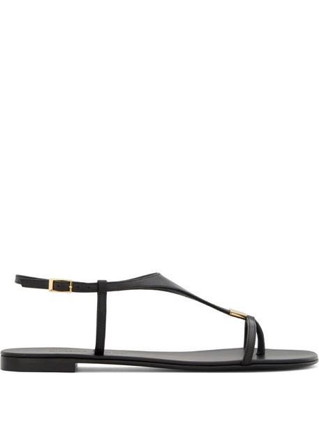 Giuseppe Zanotti Katharina flat sandals in black