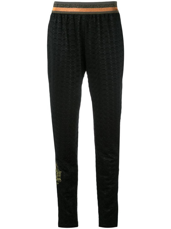 Mr & Mrs Italy geometric embossed tapered trousers in black