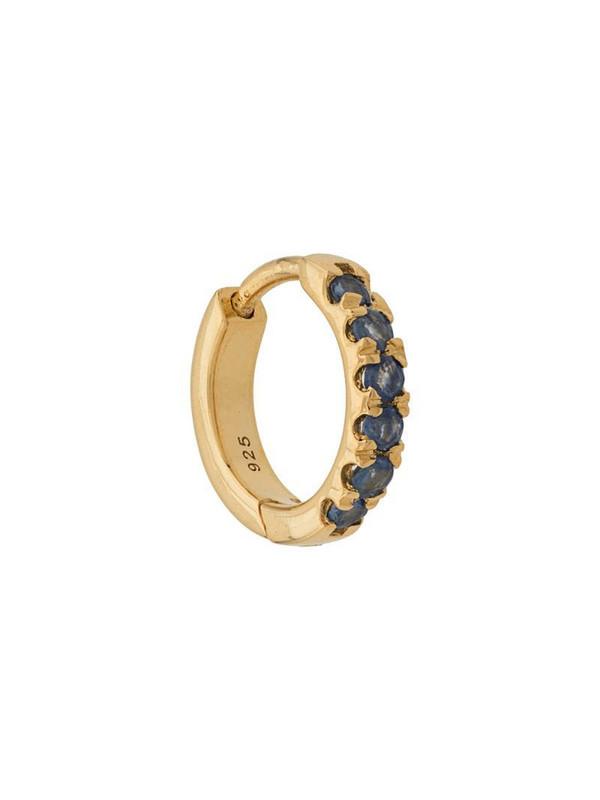 Northskull Huggie hoop earring in gold