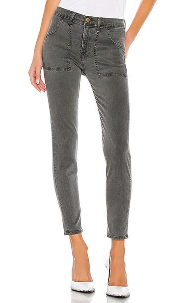 NSF Summer Porkchop Pocket Skinny Pant in Black,Gray