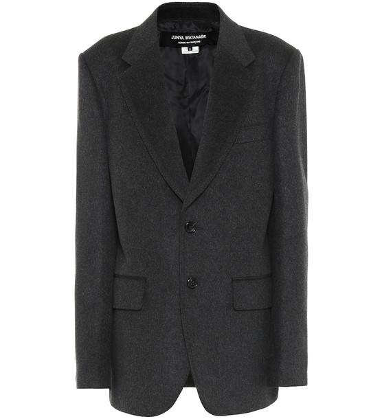 Junya Watanabe Wool-blend blazer in grey