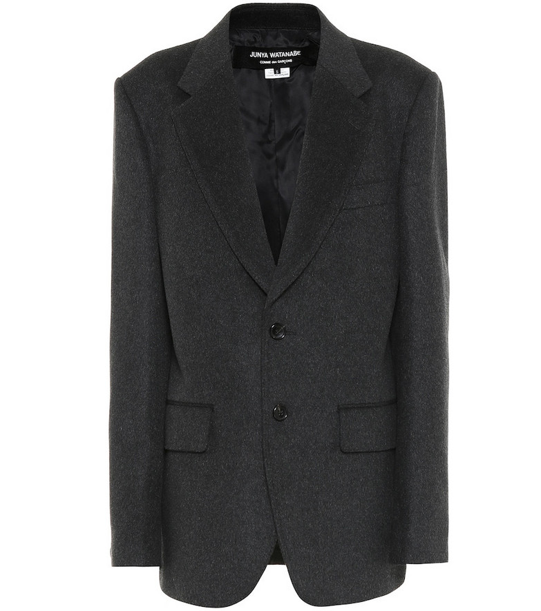 Junya Watanabe Wool-blend blazer in grey