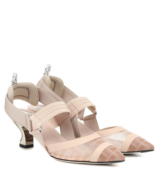 Fendi Colibrì slingback pumps in beige