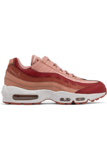 Nike Air Max 95 Suede And Leather Sneakers Blush
