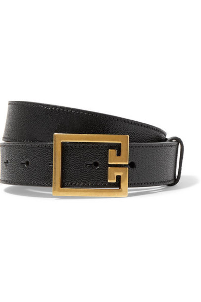Givenchy - Textured-leather Belt - Black