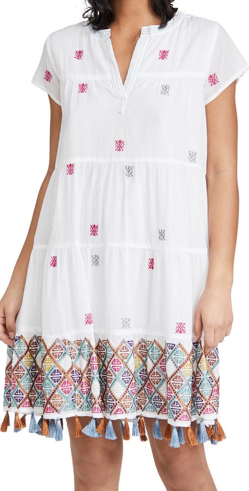 Roller Rabbit Kurtoe Embroidery Pamela Dress in white