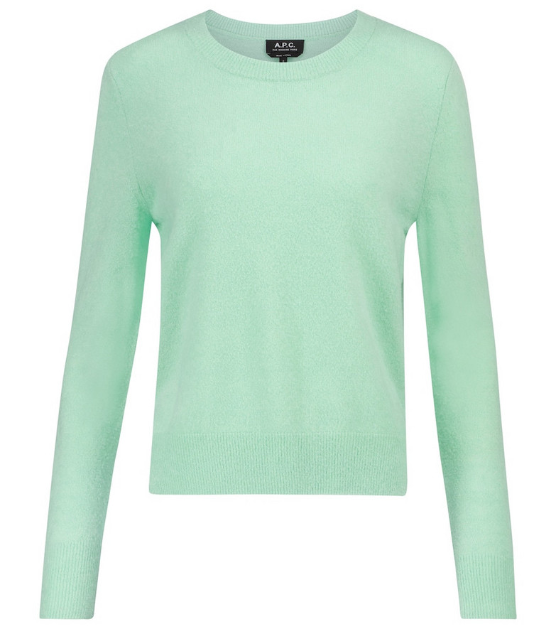 A.P.C. Amalia wool-blend sweater in green