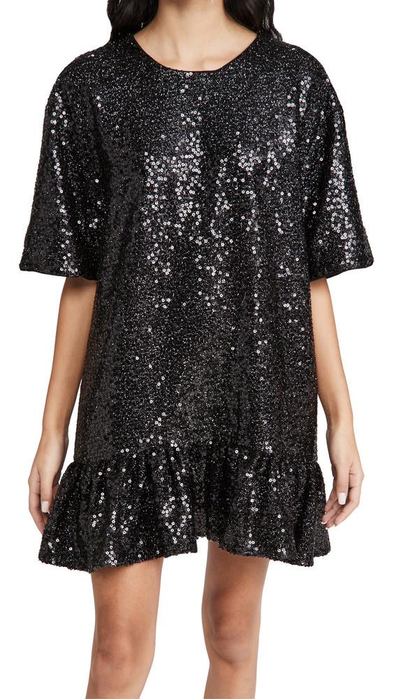 Essentiel Antwerp Zonderling Sequin Dress in black
