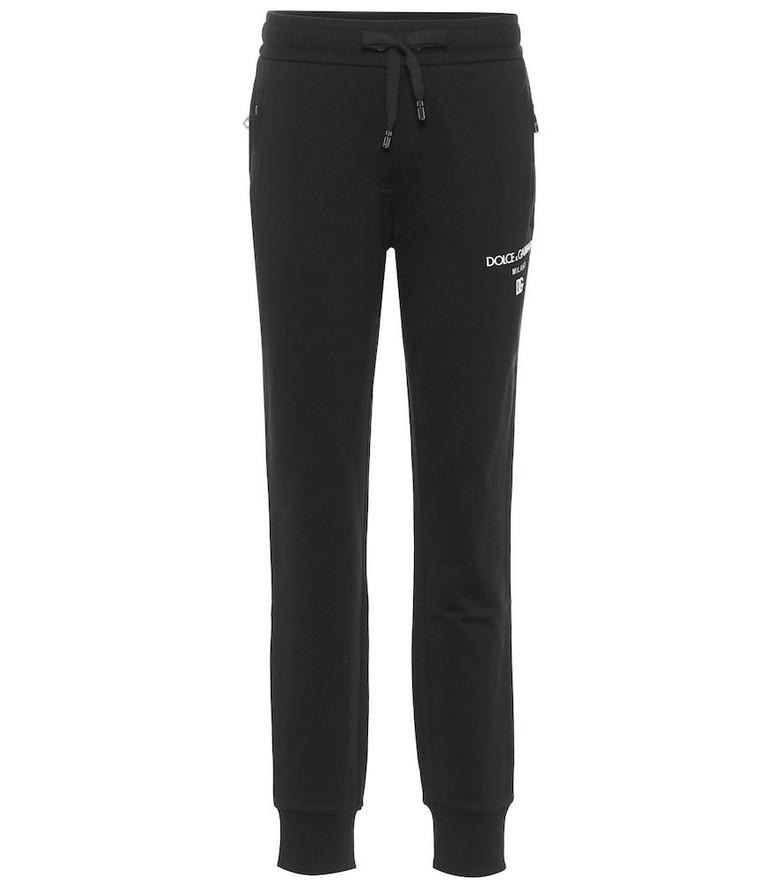 Dolce & Gabbana Logo cotton jersey sweatpants in black