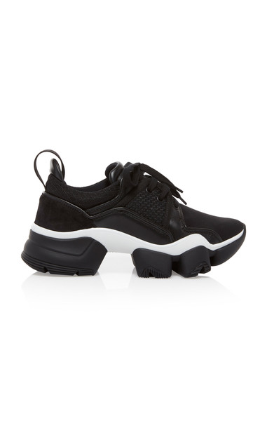 Givenchy Jaw Low-Top Leather Sneakers in black