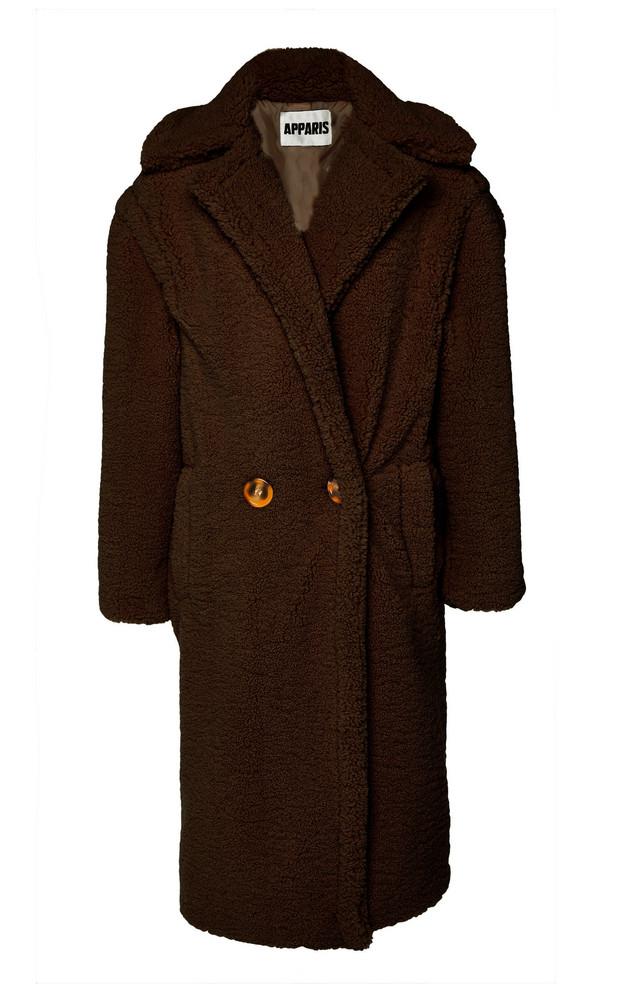 Apparis Daryna Faux Shearling Coat Size: XS in brown