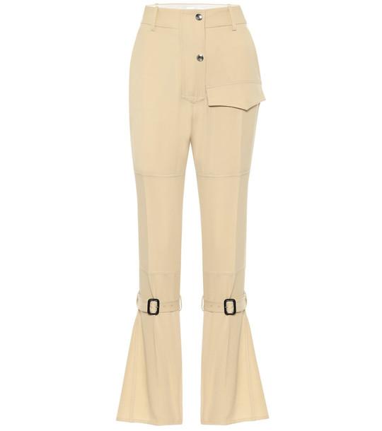 Victoria Beckham High-rise wool pants in neutrals
