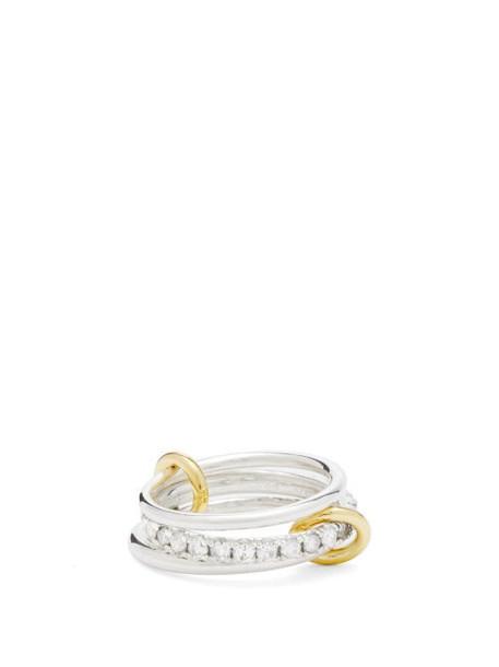 Spinelli Kilcollin - Petunia Diamond, 18kt Gold & Sterling-silver Ring - Womens - Silver Gold