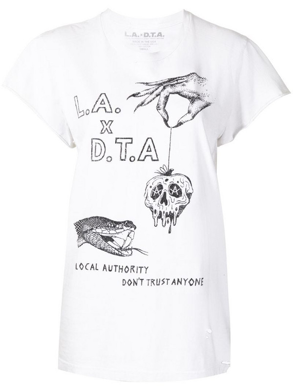 Local Authority graphic print T-shirt in black