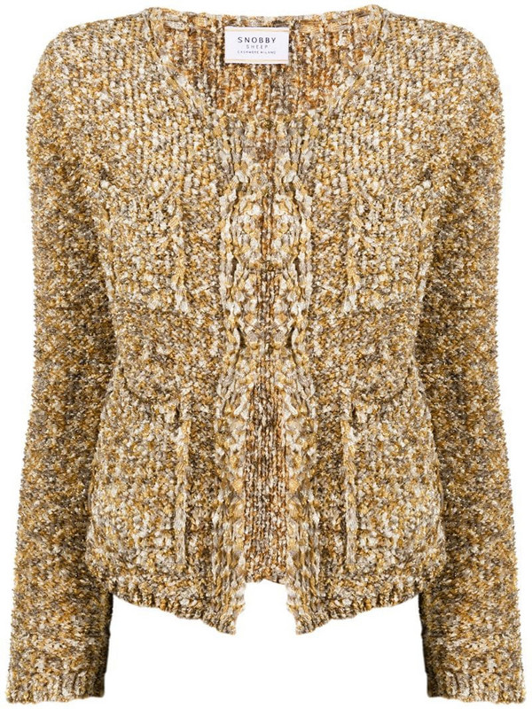 Snobby Sheep chunky knit cardigan in gold