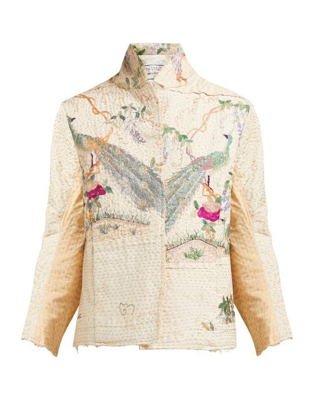 By Walid - Haya Embroidered 19th Century Cotton Jacket - Womens - Ivory Multi
