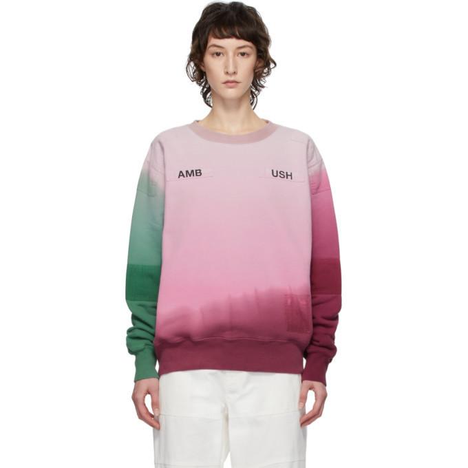 Ambush Multicolor Patchwork Sweatshirt in pink
