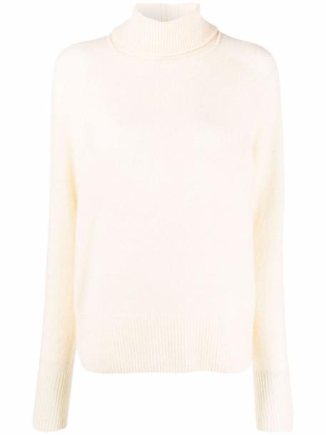 Alysi roll-neck knitted jumper - Neutrals