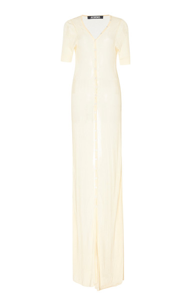 Jacquemus Dolcedo Sheer Voile Dress Size: 38 in neutral