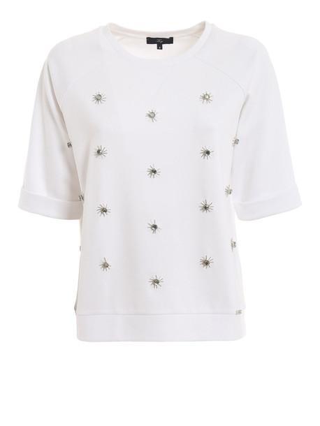 Fay Crystal White Sweatshirt Njwb538601sqqcb001