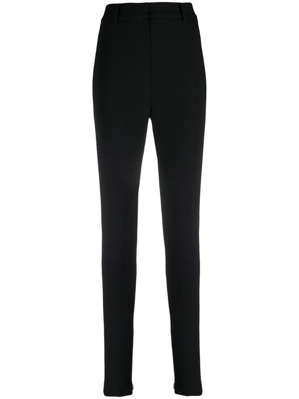 Magda Butrym split leg slim wool trousers in black