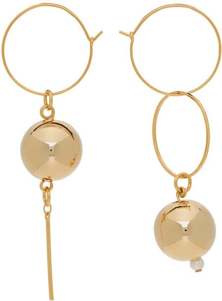 Mounser Gold Mini Solar Hoop Earrings
