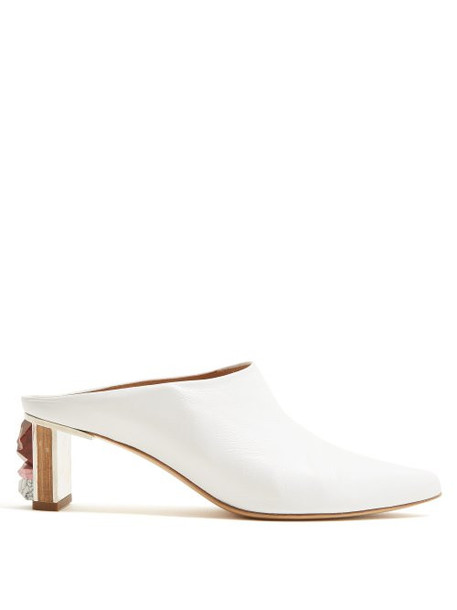 Gabriela Hearst - Leiva Leather Mules - Womens - White