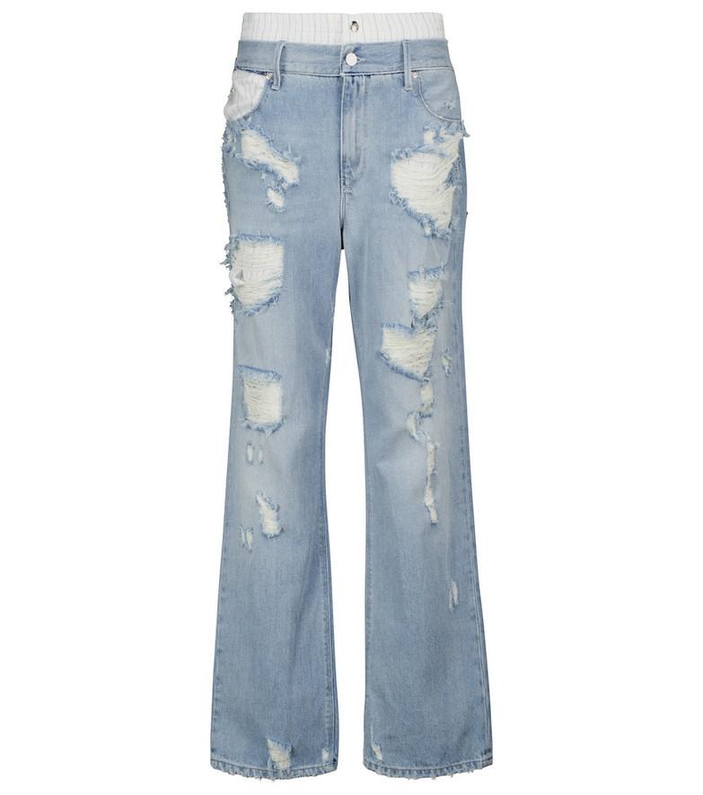 RtA Kallan distressed jeans in blue